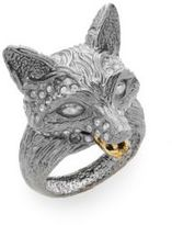 Alexis Bittar Elements Dark Phoenix Crystal Fox Head Ring