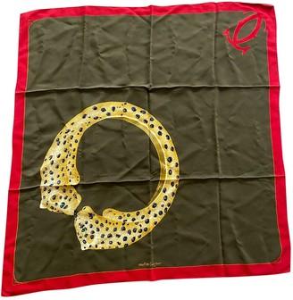 Cartier Khaki Silk Silk handkerchief