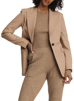 Rag & Bone Annie Twill Stretch-Wool Blazer