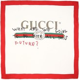 Gucci Future Printed Silk Scarf