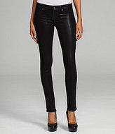 Rich & Skinny Coated Faux-Leather Skinny Jeans