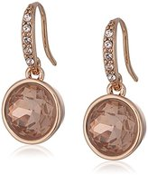 "lonna & lilly Glamour"" Rose Gold-Tone C-Hoop Drop Earrings"