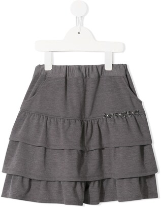 Familiar tiered jersey skirt