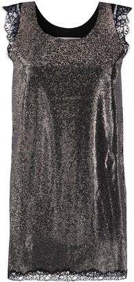 Philosophy di Lorenzo Serafini Studded Lace Trim Shift Dress