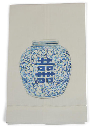 Set of 2 Happiness Jar Guest Towels - Blue - The French Bee