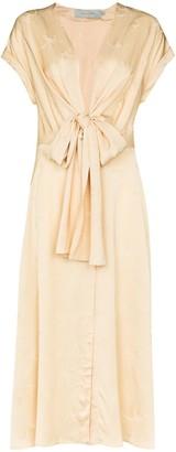 Silvia Tcherassi Aperol tie waist midi dress