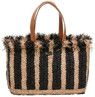 Claudie Pierlot Woven Striped Tote Bag