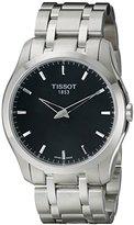 Tissot Men's T0354461105100 Couturier Analog Display Swiss Quartz Silver Watch
