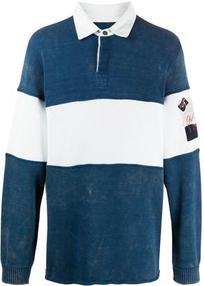 Paul & Shark Greg Lauren x bold striped polo shirt
