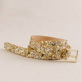 Girls' crushed glitter belt