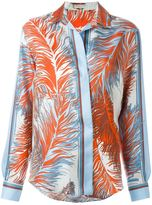 Emilio Pucci feather print shirt - women - Silk - 40