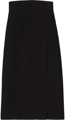 Gucci Side-Slit Midi Skirt