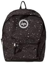 Hype Black & Silver Metallic Branded Backpack