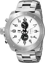 Vestal Men's RES007 Restrictor Silver White Chronograph Watch