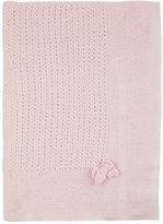 Paz Open-Stitched Wool Blanket-PINK