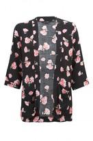 Select Fashion Fashion Womens Black Soft Floral Soft Jacket - size 6