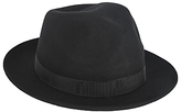 Christys' Chepstow Wool Trilby Hat, Black