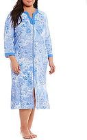 Miss Elaine Plus Paisley Zip Robe