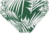 Mikoh Barcelona Cutout Printed Bikini Briefs - Dark green