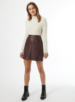 Dorothy Perkins Womens Berry Pu Mini Skirt