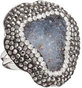 Gaia Sterling Silver Drusy & Swarovski Crystal Elements Ring