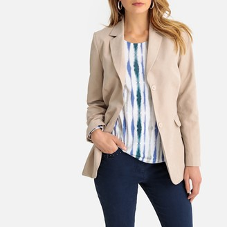 Anne Weyburn Longline Fitted Single-Breasted Blazer with Two-Button Fastening