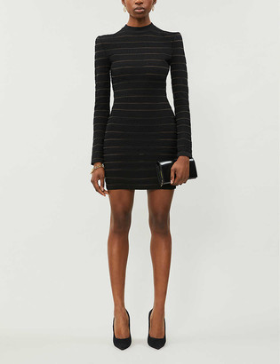 Balmain Logo-print woven mini dress