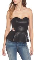 J.o.a. Women's Faux Leather Bustier