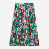 J. Crew Pleated midi skirt in confetti floral