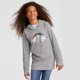Cat & Jack Girls' Long Sleeve Dinosaur Sweatshirt - Cat & Jack Charcoal Heather