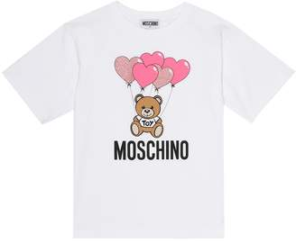 MOSCHINO BAMBINO Logo stretch-cotton T-shirt