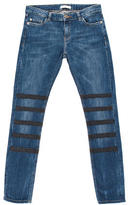 Each X Other Leather-Accented Skinny-Leg Jeans