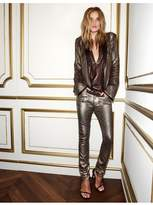 Paige Rosie Hw X Collection Stevie Skinny Champagne Galaxy Coating