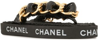 Chanel Pre Owned 1993 Chain Strap Sandals