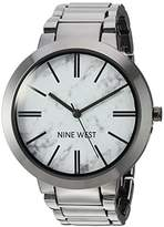 Nine West Women's NW/1985HLTE Marbleized Dial Gunmetal Bracelet Watch