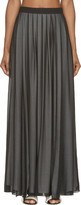 CNC Costume National Black Layered Vented Maxi Skirt