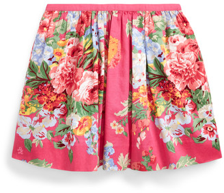 Ralph Lauren Floral Cotton Sateen Skirt