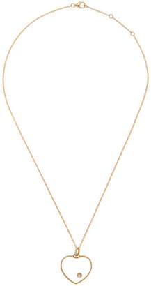 Yvonne Léon Gold Heart Medallion Necklace