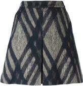 Odeeh check print skirt