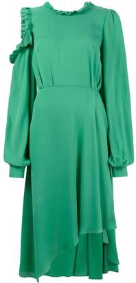 Magda Butrym Calgiari ruffle open back asymmetric dress