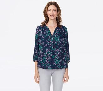 NYDJ Pullover 3/4-Sleeve Pintuck Blouse