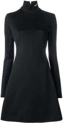 Calvin Klein turtle-neck flared sweater dress