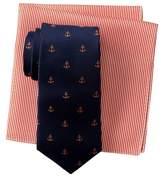 Tommy Hilfiger Anchor Silk Tie & Stripe Pocket Square Box Set
