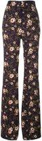 Rochas floral print trousers - women - Silk/Spandex/Elastane/Viscose - 40