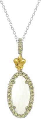 Phillip Gavriel 18K & Silver Rock Candy Peridot & Green Amethyst Oval Pendant Necklace