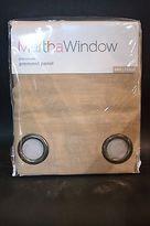 Martha Stewart Promenade Grommet Top Linen Panel Curtain Drape 50w X 84l