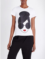 Alice + Olivia ALICE & OLIVIA Stace Face cotton-jersey t-shirt