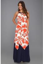 Lilly Pulitzer Winnie Maxi Dress (Tango Orange Booze Cruise) - Apparel