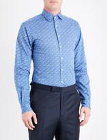 Duchamp Floral tailored-fit cotton shirt