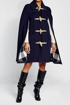 Burberry Wool Cape wth Oversized Toggles